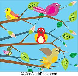 éneklés, -, madarak, eredet