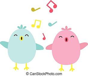 éneklés, madarak, színes