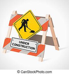 építés alatt, út cégtábla