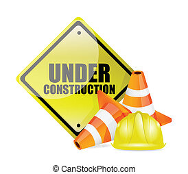 építés alatt, aláír