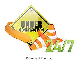 építés alatt, szolgáltatás, aláír