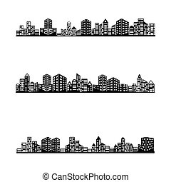 épület, állhatatos, ikon
