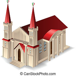 épület, öreg templom