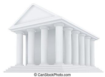 épület, ősi, vektor