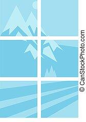 épület, ablak, vektor, alapismeretek