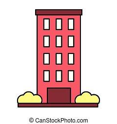 épület arculat, white háttér, külső