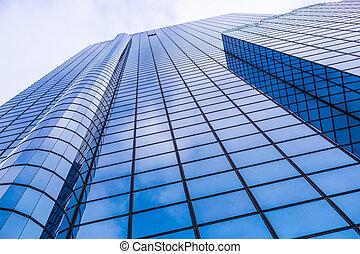 épület, becsuk, kereskedelmi, feláll