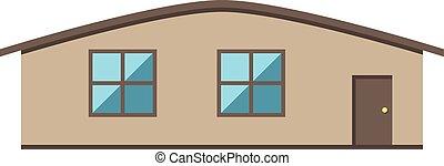 épület, elszigetelt, single-storey