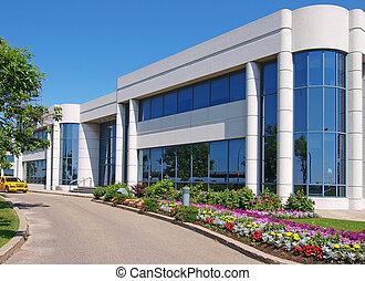 épület, entranceway, ipari park