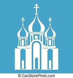 épület, fehér, templom, ikon