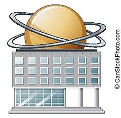 épület, fehér, tudomány, háttér