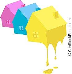 épület, festmény, ügy