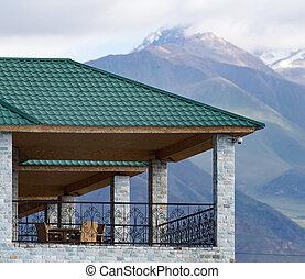 épület, hegyek