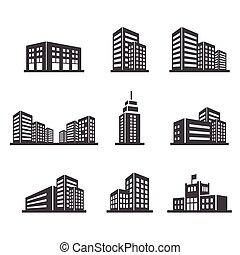 épület, ikon