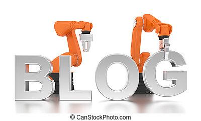 épület, ipari, szó, fegyver, blog, robotic