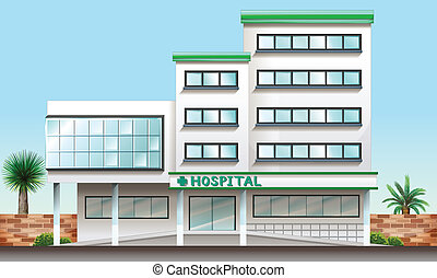 épület, kórház