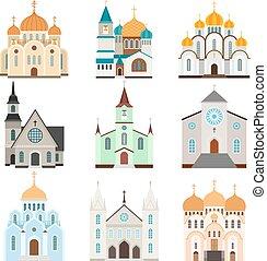 épület, menedékhely, keresztény, ikonok