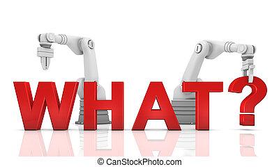 épület, mi, ipari, szó, fegyver, robotic