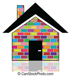 épület, színes