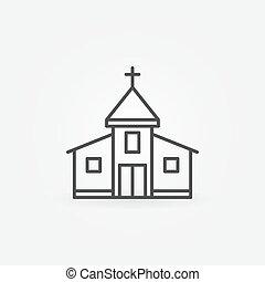 épület, templom, ikon