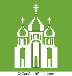 épület, templom, zöld, ikon