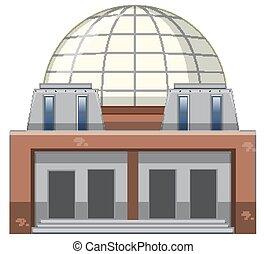 épület, tudomány, white háttér