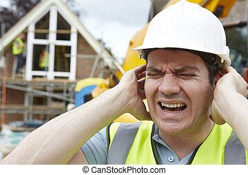 épület, zaj, házhely, szenvedés, szerkesztés, szennyezés