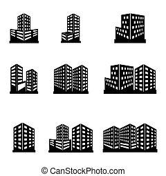 épületek, ikonok
