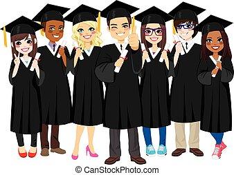 érettségizik, sikeres, diákok