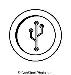 érme, elektromos, áramkör, ikon