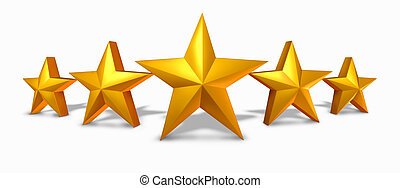 értékelés, csillag, arany, arany-, öt, csillaggal díszít