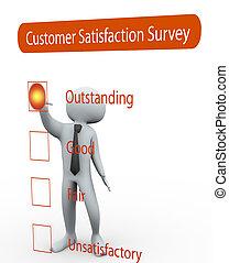 értékelés, kérdőív, 3, felmérés, ember