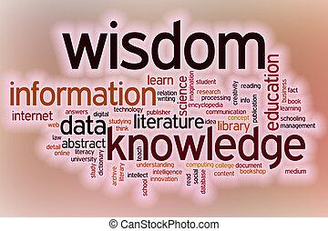 értesülés, szó, tudás, elvont, bölcsesség, backg, adatok, felhő