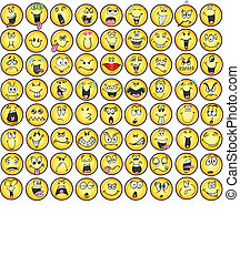 érzelem, emoticons, vectors, ikon