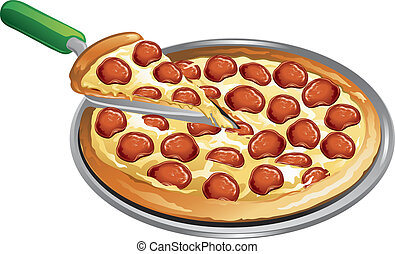 étkezés, pizza