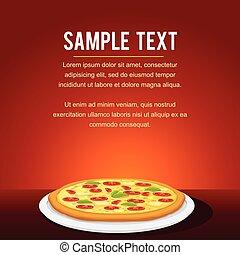étterem, élelmiszer, étrend, gyorsan, tervezés, kártya, pizza