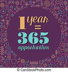 év, új, ihlet, tervezés, árajánlatot tesz