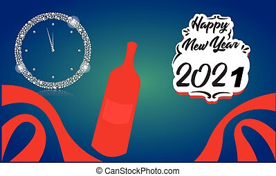 év, új, iszik, boldog