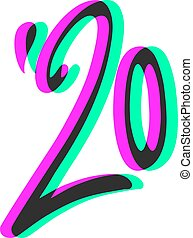 év, 2020, látási, lapos rajzóra