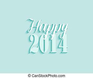 év, köszönés, vektor, háttér, új, 2014, kártya, boldog