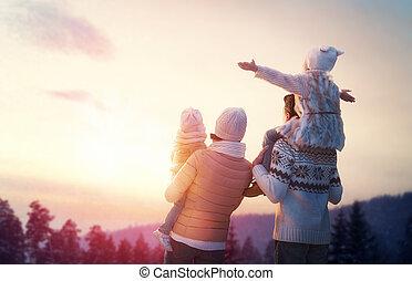 évad, család, tél