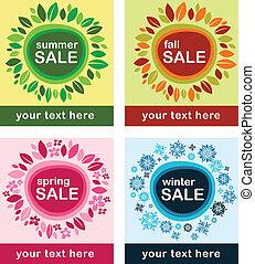 évszaki, plakátok, értékesítések