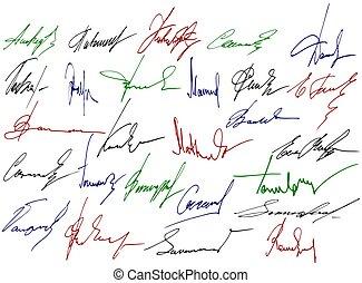 írás, aláírás, cégtábla