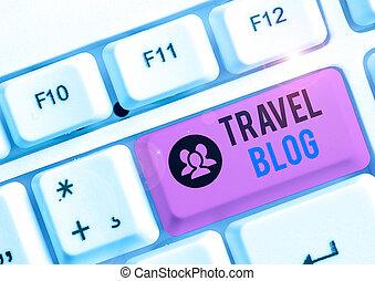 írás, tapasztalatok, world., kéz, fénykép, elhelyez, fogalmi, showcasing, kiállítás, thoughts, utazás, blog., mindenfelé, ügy, osztozás