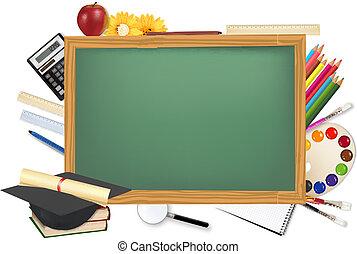 íróasztal, anyagi készletek, izbogis, zöld