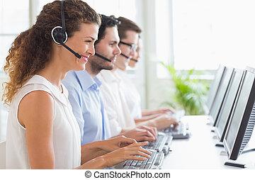 íróasztal, dolgozó, vásárló, jellemző, szolgáltatás