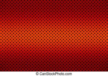 ív, gradiens, fém, szín, átlyukadt, piros