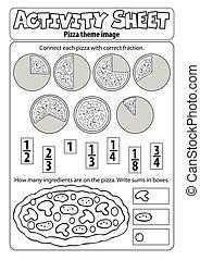ív, pizza, elfoglaltság, téma, 1