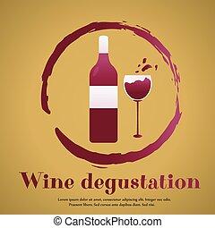 ízlelés, tervezés, sablon, meghívás, fél, suitable, vagy, bor