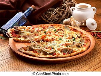 ízletes, pizza